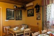 Penzion na Šumavě jídelna